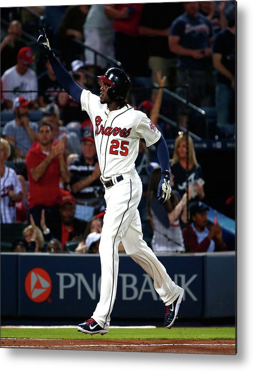Atlanta Metal Print featuring the photograph Cameron Maybin by Kevin C. Cox