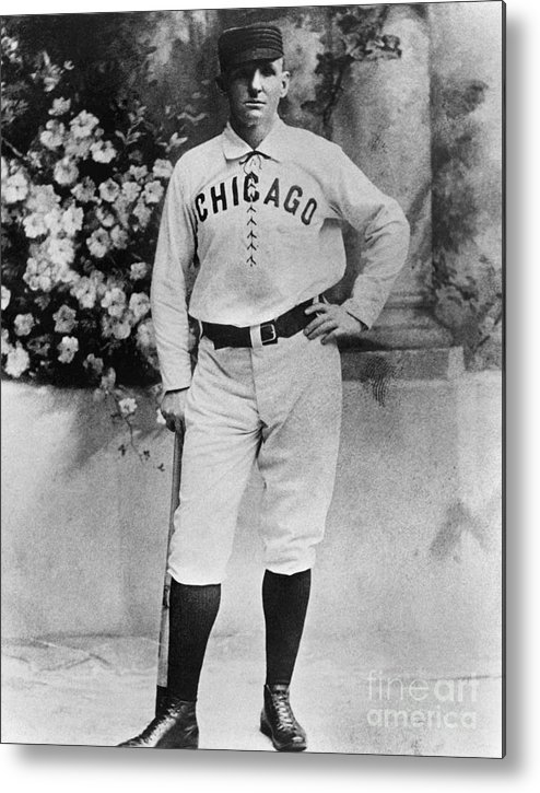 Formalwear Metal Print featuring the photograph Cap Anson by National Baseball Hall Of Fame Library
