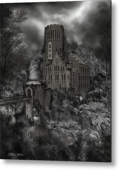 Castle Metal Print featuring the painting Casa Los Diavla by James Christopher Hill