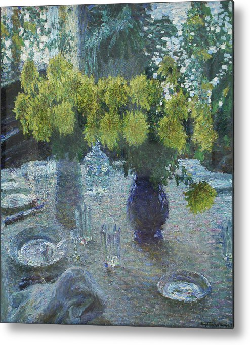Russian Impressionism Metal Print featuring the painting Chrysanthemums by Igor Grabar