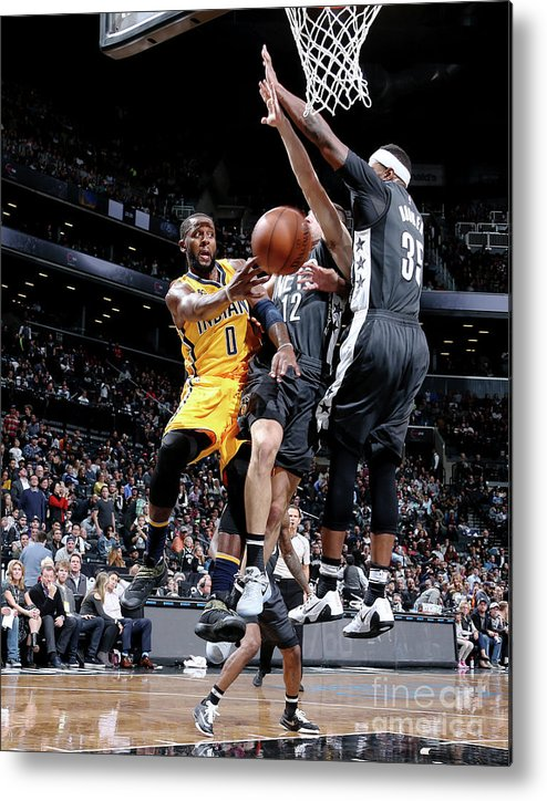 Nba Pro Basketball Metal Print featuring the photograph C.j. Miles by Nathaniel S. Butler