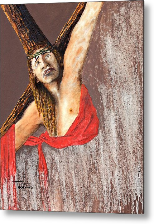 Inspirational Metal Print featuring the painting Crucifixion by Patrick Trotter