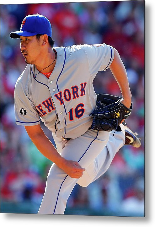 Citizens Bank Park Metal Print featuring the photograph Daisuke Matsuzaka by Rich Schultz