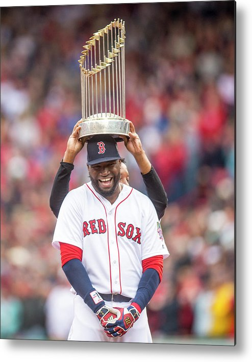 People Metal Print featuring the photograph David Ortiz and Pedro Martinez by Billie Weiss/boston Red Sox