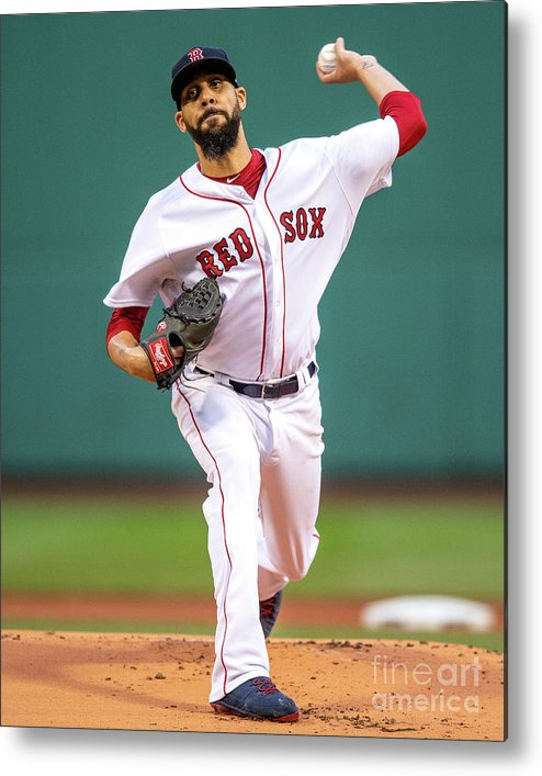 David Price Metal Print featuring the photograph David Price by Billie Weiss/boston Red Sox