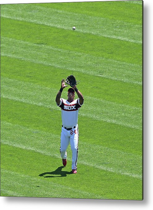 American League Baseball Metal Print featuring the photograph Dayan Viciedo by Jonathan Daniel