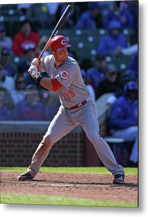 Devin Mesoraco Metal Print featuring the photograph Devin Mesoraco by Jonathan Daniel