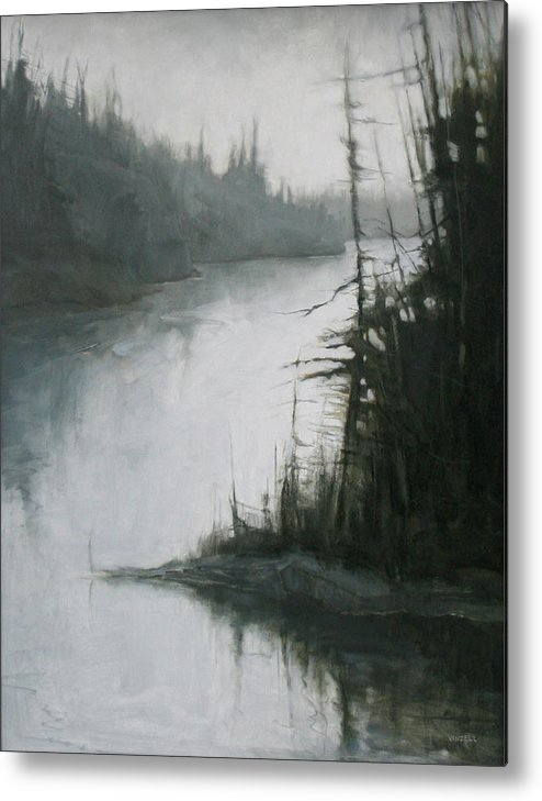 Metal Print featuring the painting Echoes by Mary Jo Van Dell