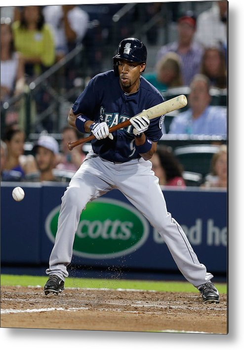 Atlanta Metal Print featuring the photograph Endy Chavez by Mike Zarrilli