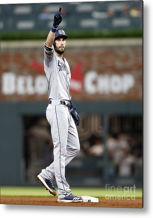 Atlanta Metal Print featuring the photograph Eric Hosmer by Mike Zarrilli