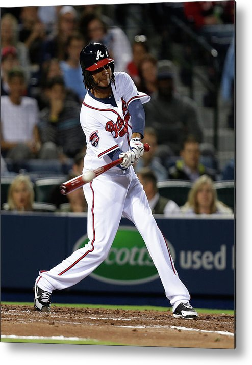 Atlanta Metal Print featuring the photograph Ervin Santana by Mike Zarrilli
