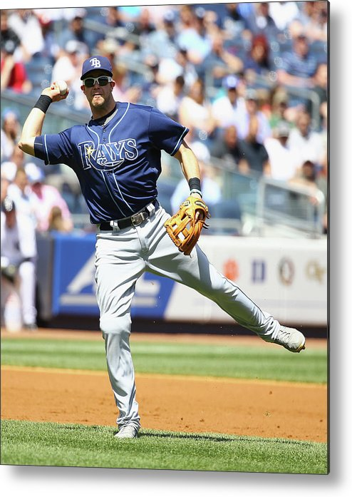 American League Baseball Metal Print featuring the photograph Evan Longoria and Chase Headley by Al Bello