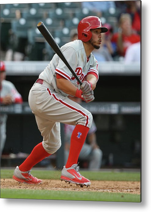 National League Baseball Metal Print featuring the photograph Freddy Galvis by Doug Pensinger