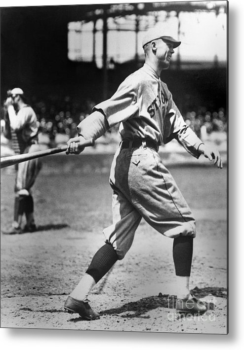 American League Baseball Metal Print featuring the photograph George Sisler by National Baseball Hall Of Fame Library