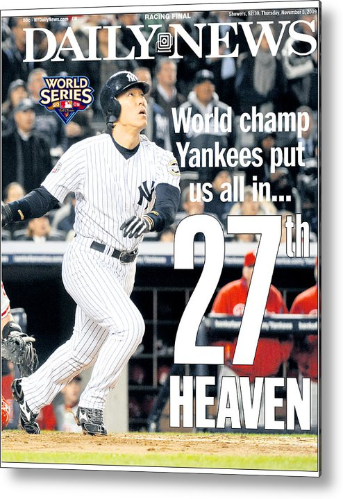 American League Baseball Metal Print featuring the photograph Hideki Matsui by New York Daily News Archive