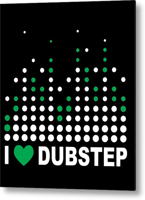 Electronic Dance Music Metal Print featuring the digital art I Heart Dubstep by Jacob Zelazny