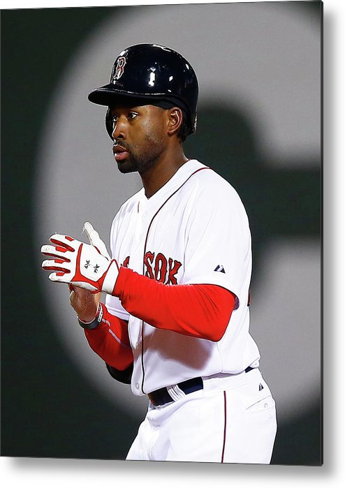 American League Baseball Metal Print featuring the photograph Jackie Bradley by Jared Wickerham