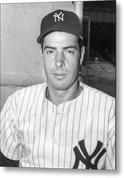 People Metal Print featuring the photograph Joe Dimaggio by The Stanley Weston Archive