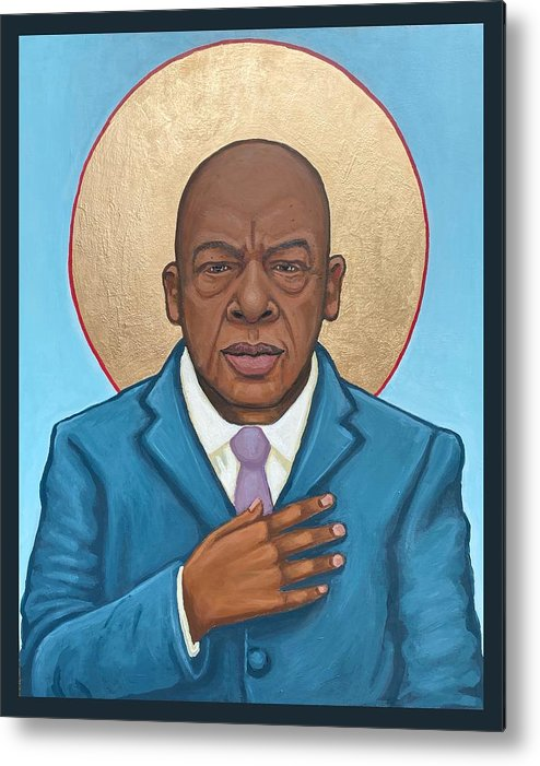 Metal Print featuring the painting John Lewis by Kelly Latimore