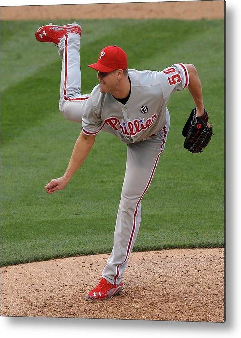 National League Baseball Metal Print featuring the photograph Jonathan Papelbon by Doug Pensinger