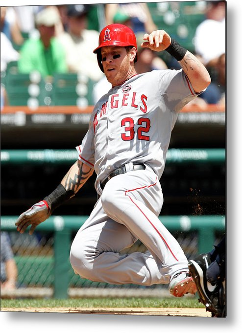 American League Baseball Metal Print featuring the photograph Josh Hamilton and Brad Hawpe by Duane Burleson