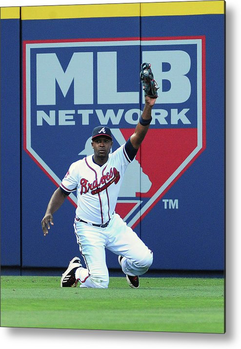 Atlanta Metal Print featuring the photograph Justin Upton by Scott Cunningham