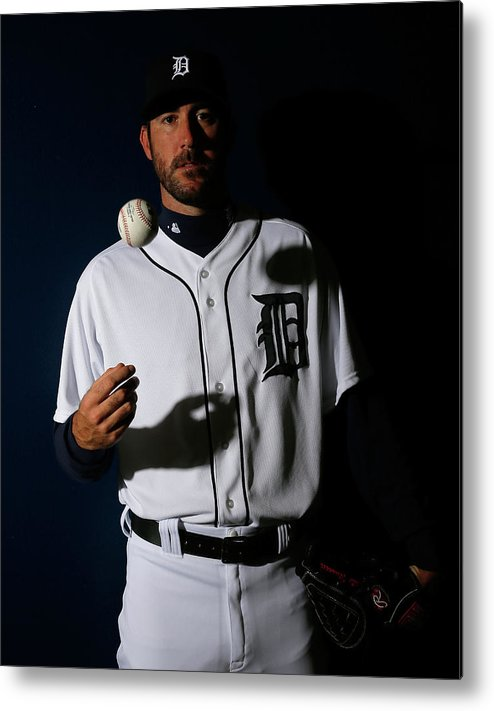 Media Day Metal Print featuring the photograph Justin Verlander by Kevin C. Cox