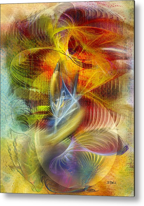 Affordable Art Metal Print featuring the digital art Lady And Her Shells by John Robert Beck