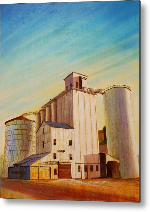 Grain Metal Print featuring the painting Latah County Grain Growers by Leonard Heid
