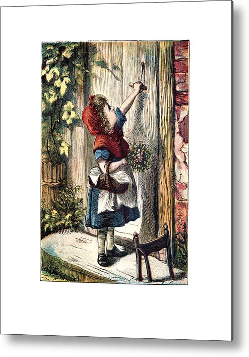 Little Red Riding Hood Metal Print featuring the digital art Little Red by Madame Memento