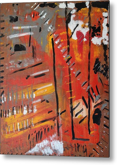 Colorado Metal Print featuring the painting Looking Like October by Pam Roth O'Mara