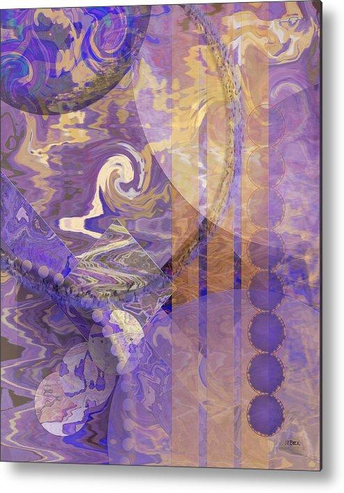 Lunar Impressions Metal Print featuring the digital art Lunar Impressions by John Robert Beck