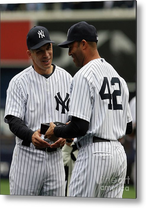 People Metal Print featuring the photograph Mariano Rivera and Joe Girardi by Chris Trotman
