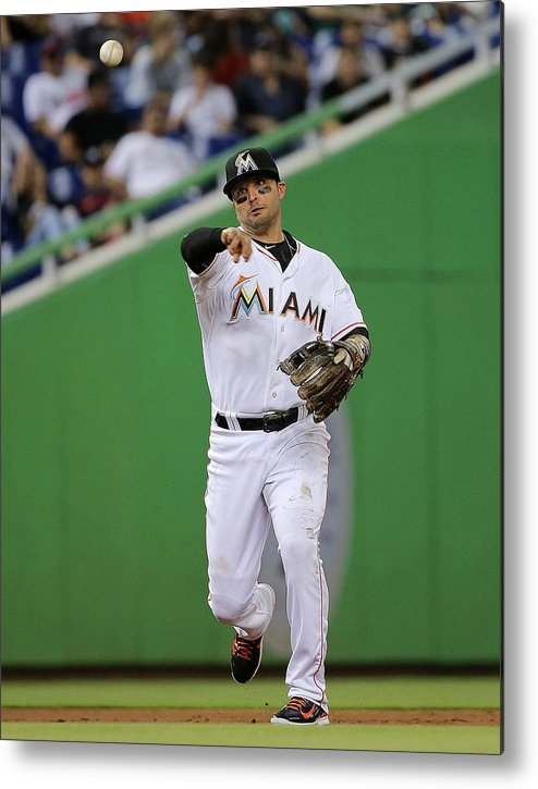 People Metal Print featuring the photograph Martin Prado by Mike Ehrmann