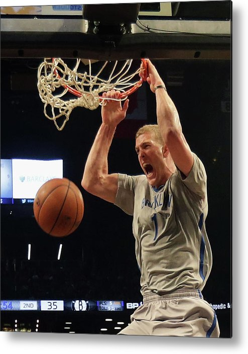 Nba Pro Basketball Metal Print featuring the photograph Mason Plumlee by Bruce Bennett
