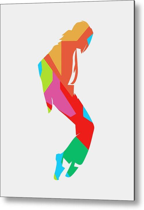 Michael Jackson Metal Print featuring the digital art Michael Jackson Dance 2 POP ART by Ahmad Nusyirwan