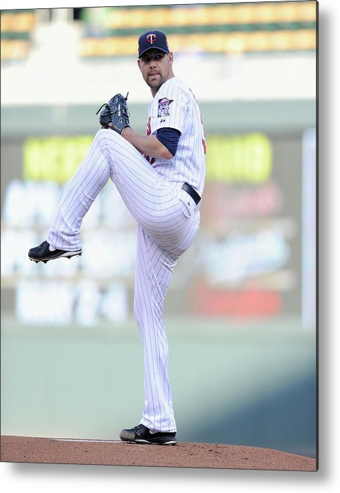 Game Two Metal Print featuring the photograph Mike Pelfrey by Hannah Foslien