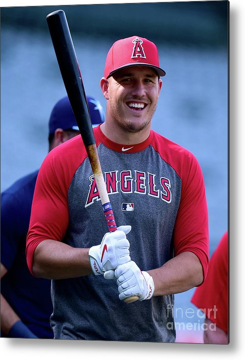 People Metal Print featuring the photograph Mike Trout by Harry How