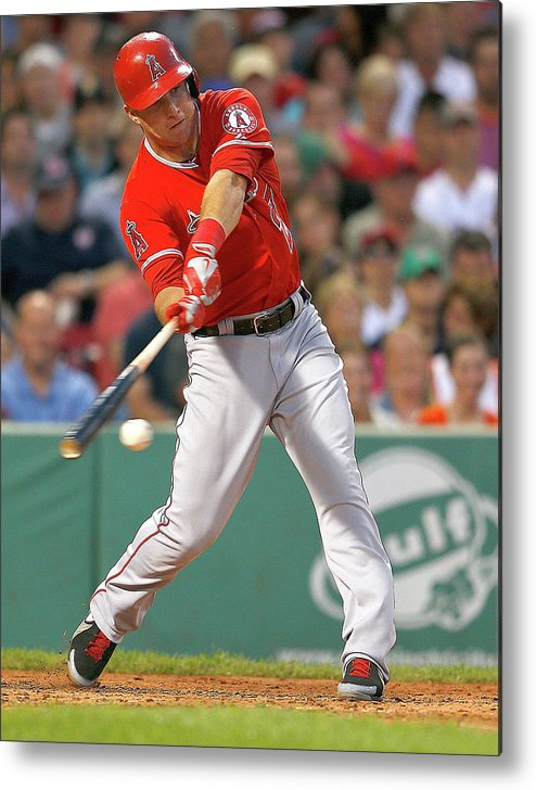People Metal Print featuring the photograph Mike Trout by Jim Rogash