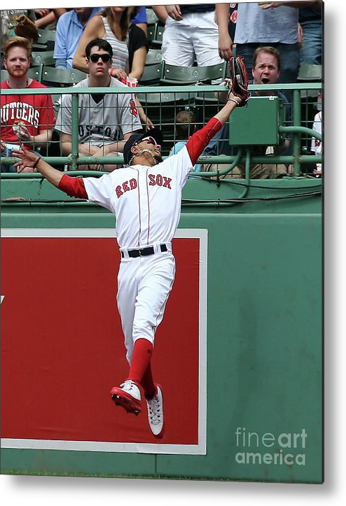 People Metal Print featuring the photograph Mitch Haniger and Mookie Betts by Jim Rogash