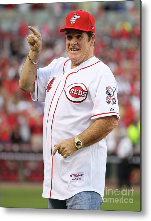 Great American Ball Park Metal Print featuring the photograph Pete Rose by Andy Lyons