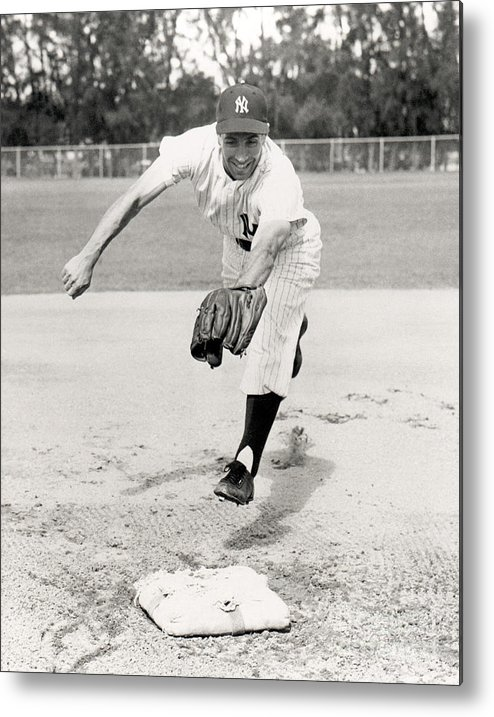 American League Baseball Metal Print featuring the photograph Phil Rizzuto by National Baseball Hall Of Fame Library