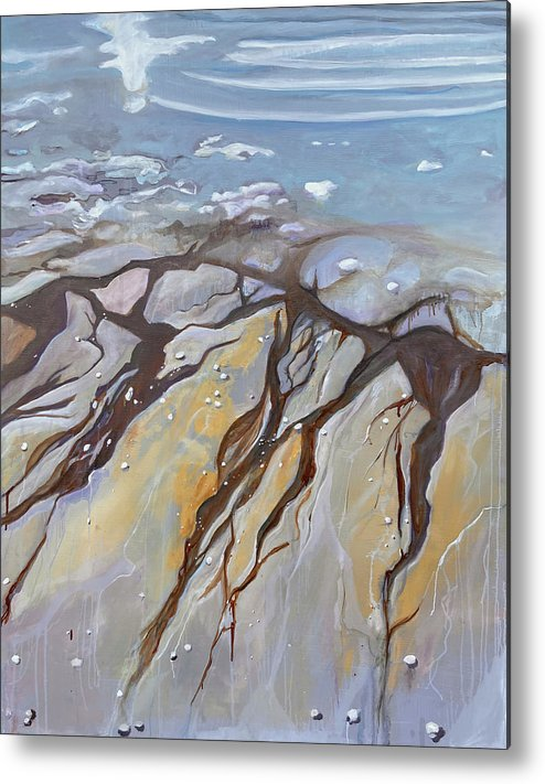 Surreal Metal Print featuring the painting Saltwater Veins II by Jodee Clifford
