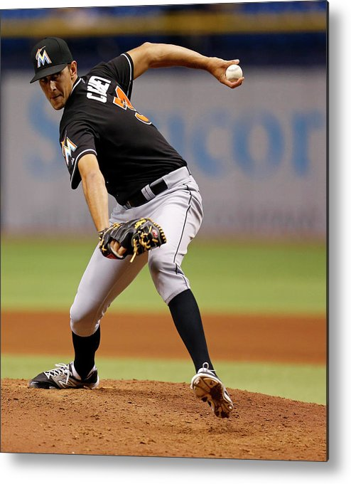 Ninth Inning Metal Print featuring the photograph Steve Cishek by Mike Carlson