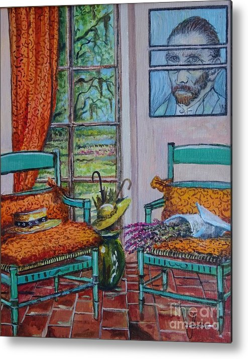 Still Life Metal Print featuring the painting The Colors of Vincent van Gogh by Sinisa Saratlic
