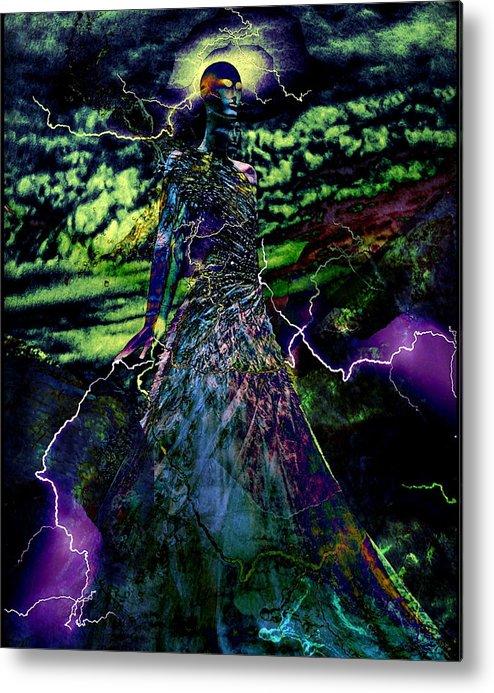 Surrealism Metal Print featuring the digital art Thunder by Gunilla Munro Gyllenspetz