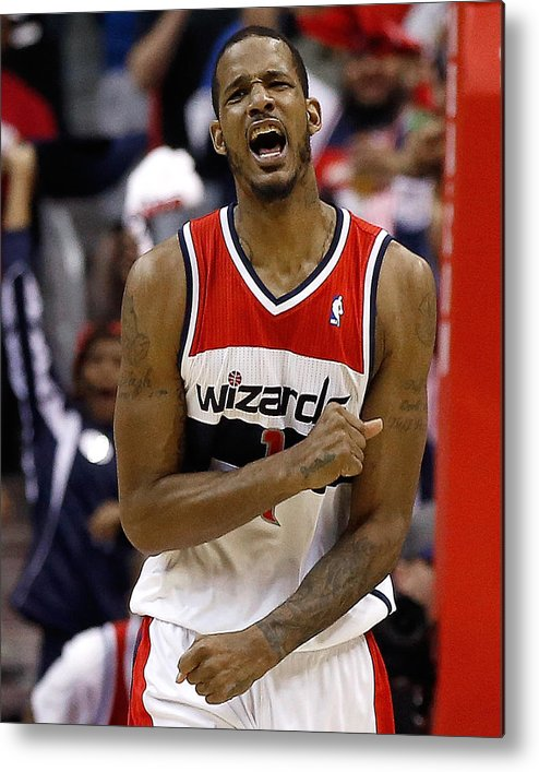 Playoffs Metal Print featuring the photograph Trevor Ariza by Win Mcnamee