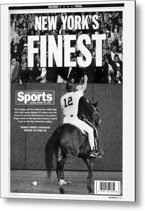Horse Metal Print featuring the photograph Wade Boggs by New York Daily News Archive
