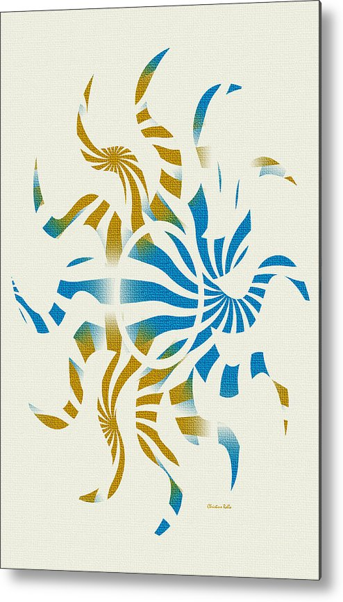 Abstract Metal Print featuring the mixed media 3d Spiral Art by Christina Rollo
