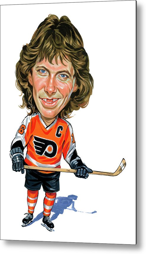 Bobby Clarke Metal Print featuring the painting Bobby Clarke by Art